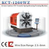 12 весна CNC оси 5mm Camless разносторонняя вращая формирующ весну Machine&Tension/Torsion делая машину