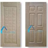 A pele da porta de HDF, pele da porta do folheado, molda a porta de painel 6