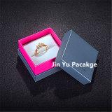 Rectángulo de joyería sólido del papel de la cartulina para el anillo, collar, colgante
