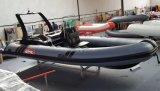 Crogiolo di vetroresina della barca della nervatura di buona qualità di Canto 5.8m 19FT con il CERT del Ce. Materiale o Hypalon del PVC sulla vendita