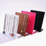 Terciopelo joyería soporte de exhibición del fabricante cubierta de madera de acrílico del reloj soporte de la exposición (Ys21)