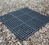 Antibeleg durchlöchert hohler Sicherheitskreis-blockierende Gummifußboden-Bodenbelag-Matten