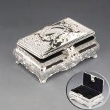 Caja de joyería plateada plata (VAGOS 12688 DL-2)