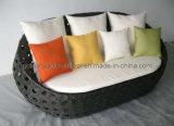PET breites Rattan-rundes Sofa, im Freienmöbel (GP0001)