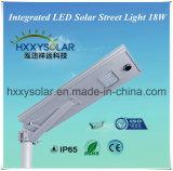 Indicatore luminoso di via solare Integrated di vendita caldo di alta luminosità LED di lumen 2017 18W