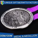 medaglione su ordinazione Engaving di maratona del metallo 3D