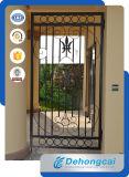 高品質のグリルデザインの耐久の黒いWroughの鉄のゲート