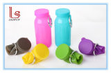 Бутылка воды оптового силикона качества еды высокого качества складывая для спортов