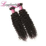 Natürliche rohe unverarbeitete Großhandelsjungfrau-indisches lockiges Haar Remy