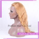 販売のためのアフリカ系アメリカ人のブロンドの人間の毛髪のかつら