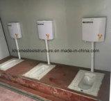 Banheiro barato do recipiente