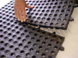 反スリップは空の連結の連結のゴム製床のフロアーリングのマットに穴をあける