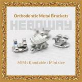 Braces ortodontico Bondable Mini Roth Brackets con CE0197 ISO13485