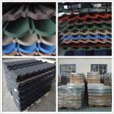 Fabricación de acero cubierta piedra de los azulejos de azotea de azulejo de azotea del surtidor de China