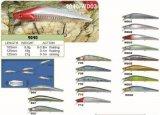 Attrait profond célèbre de vairon de plongeur de pêcheurs fiche dure de pêche de 100mm et de 125mm