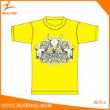 Таможня Healong оптовая любая тенниска конструкции рубашек сублимации цвета логоса