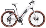 Bicicleta eléctrica del nuevo señoras del sensor 700c de la montaña de 2017 viajero inestable del camino