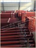 Alta qualidade que pinta suportes vermelhos da trincheira do andaime