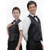 짧은 Sleeve Stylish Waiter Uniforms 및 Restaurant Uniforms