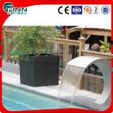 Piscina del acero inoxidable o equipo de la característica del agua del jardín