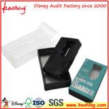 Fournisseur de plastique noir de plateau d'ampoule d'emballage transparent de carton