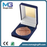 熱いビロードのギフト用の箱が付いている販売によってカスタマイズされる銅メダル