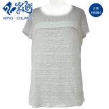 Astilla corta gris flojo malla Newstyle Moda blusa de las mujeres