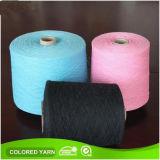 Mejor hilo de algodón coloreado reciclado de OE para el guante