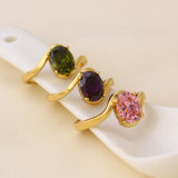 11093 Ring van de Juwelen van de Verkoop van de manier de Hete 14k Gouden Kleur Geplateerde