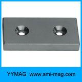 Bloque magnético NdFeB con agujero de tornillo