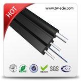 O cabo de fibra óptica da bainha FTTH de LSZH com fio de aço FRP reforça