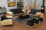 Il sofà della gomma piuma ha impostato con il materiale Lz1688 del cuoio genuino