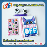 Het grappige Vastgestelde Notitieboekje van de Kantoorbehoeften met 3D Stuk speelgoed van Stickers