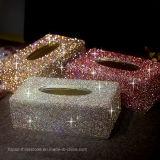 Hecho a mano de cristal de cristal de diamantes de imitación caja de diamante de papel toalla titular de las servilletas caso mejores regalos para los amigos de la familia (TBB-009)