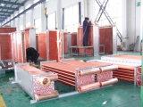 Evaporador de alumínio da aleta da câmara de ar de cobre para condicionadores de ar