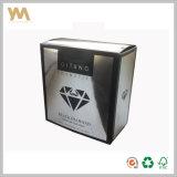 Rectángulo de empaquetado del perfume decorativo de plata de lujo de encargo de la cartulina