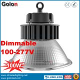 do watt Halide 100W Dimmable do grau 60W 25 100 da lâmpada 110lm/W 100 da recolocação do diodo emissor de luz do metal 400W lâmpada elevada do louro do diodo emissor de luz
