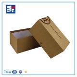 Caixa de presente de dobramento luxuosa do papel ondulado de Kraft com cópia do logotipo