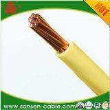 Único condutor de cobre desencapado contínuo, H05V2-U, Ce Certificated, único fio do núcleo, cabo distribuidor de corrente 6 mm2