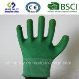 раковина полиэфира 13G с покрынными нитрилом перчатками работы (SL-N109)