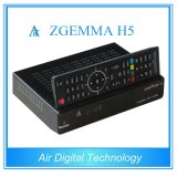 Alta tecnología Hevc / H. 265 DVB-S2 + T2 / C Sintonizadores gemelos Zgemma H5 Linux OS Receptor de satélite Enigma2