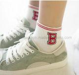 Reines Weiß mit Zeichensweety-Form-Knöchel-Socke