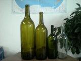 750ml antike grüne Burgunder Wein-Flasche