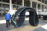 A máquina escavadora segue as trilhas de borracha para KOMATSU CD110r) 800*150ym