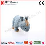 Rhinocéros debout de jouet mou de masse de fabrication