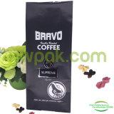 Bolsos de café negros mates de la parte inferior plana