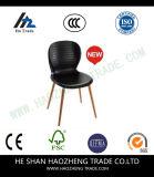 Hzpc044 Stoel van de Stapel van de Ontwerper van de Capaciteit de Zwarte Plastic met Zwart Frame