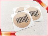 Autoadesivo di carta stampato rotondo della guarnizione di imballaggio del regalo dell'autoadesivo