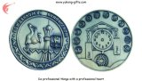 Emblème en alliage de zinc en métal d'émail d'embrayage de guindineau (YH-MP006)