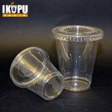 PP/Pet descartável coloca o copo plástico frio transparente desobstruído com tampa